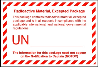 VREX  Radioactive Material Quantities Package Label 100mm x  75mm  - Rolls 250